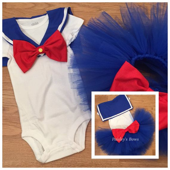 Sailor Moon tutu set  by PaisleyBows on Etsy