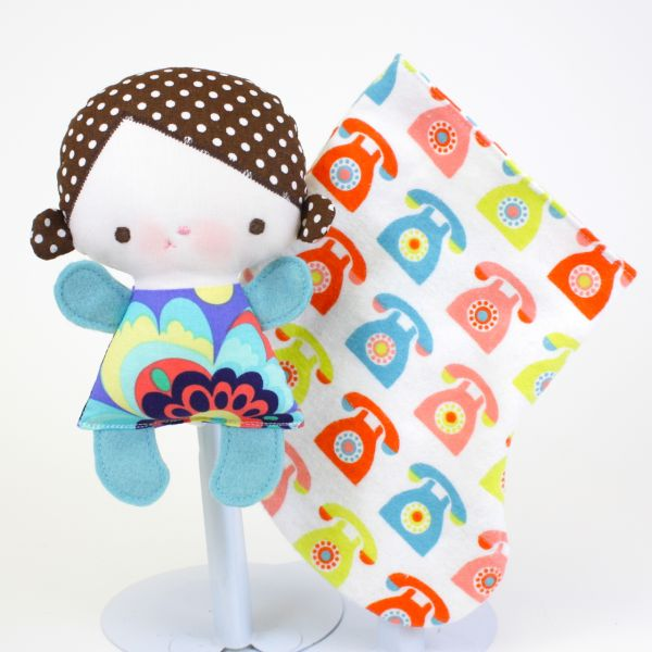 """Olivia the Wittle Whimsy 6"""" handmade cloth doll"""
