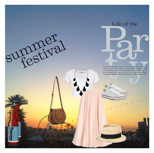 Festival Time! by alessandraprimavera on Polyvore featuring moda, White House Black Market, Converse, Chloé, Kendra Scott, Eugenia Kim and vintage