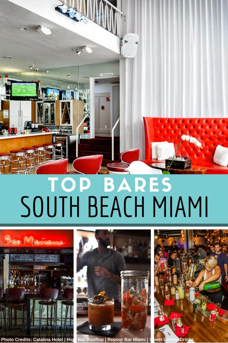 Top Bares em South Beach Miami/ Top Bars in South Beach - our interactive map list! Click here and download it now!