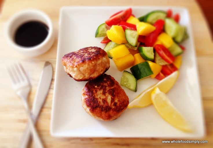 Satay Chicken Burgers - Wholefood Simply