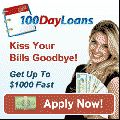 100 Day Loans,  Kiss Your Bills Goodbye! Get Up to $1000 FAST #loans #100daysloans