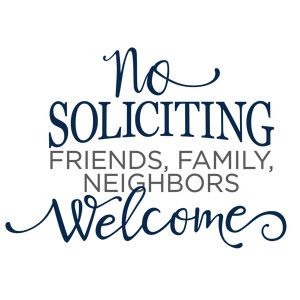 Silhouette Design Store: no soliciting phrase
