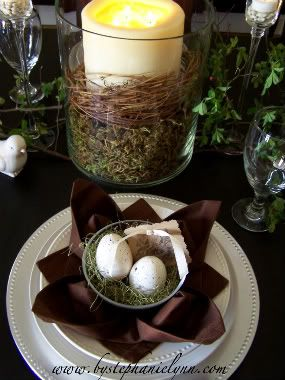 Easter Place Setting - Spring Centerpiece - Under the Table and Dreaming