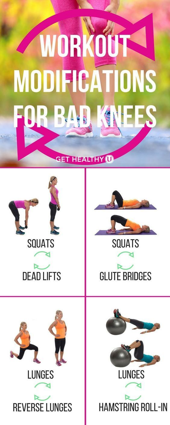 Do you have bad knees? Here are some workout modifications for people with bad knees that still want a great workout! With just a few changes, you can create a lower-impact yet high-intensity fitness routine that won't cause you aches and pains!