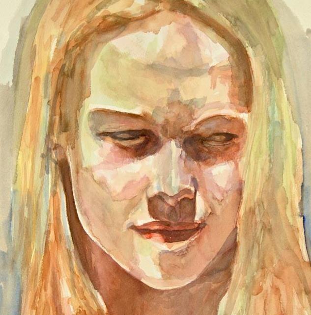 Woman wstercolor