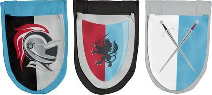 All the accessories a knight needs, within easy reach ! #FLEXA #storage #bleu #red #grey  #stylish #fun