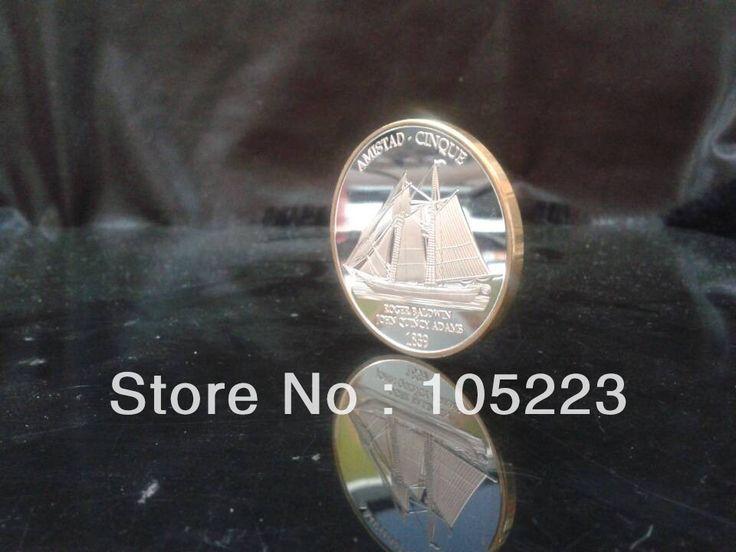 Целые цена 500 шт./лот роджер болдуин джон куинси адамс 1839 года ла-амистад cinque серебро круглый биметаллические коллекционные монеты