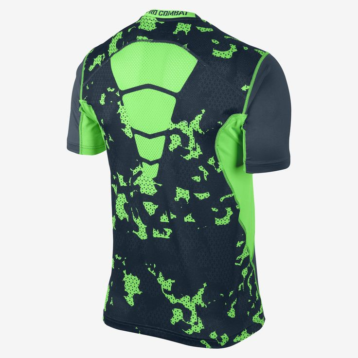 Nike Store. Nike Pro Combat Hypercool Fitted Grid Camo Men's T Shirt
