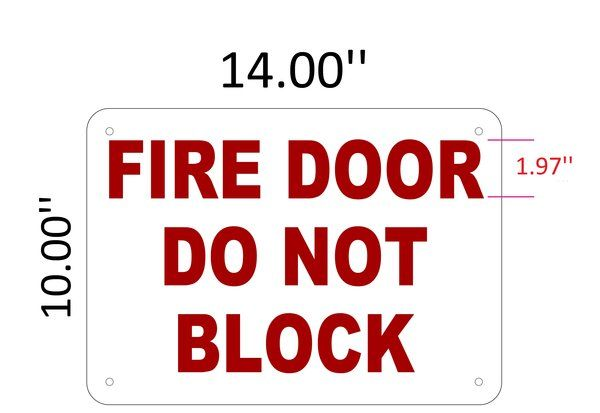 NYC FIRE DEPARTMENT SIGN: FIRE DOOR DO NOT BLOCK SIGN (10X14) | YOUR OFFICIAL STORE FOR NYC DOB SIGNAGE