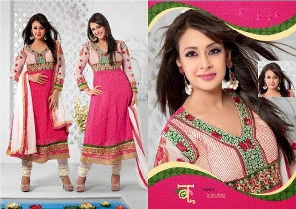 Anarkali Churidar, Anarkali Long Geogrette Dresses 201long Suits 2014, Anarkali Salwar Suits 2014, Fancy Dresses, Frock Style, Geogrette Long Dresses For Women, Indian Designer Suits