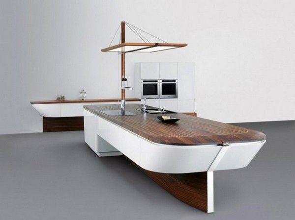 Die Moderne Küche Mit Meeresthema Sieht Nicht Nur Attraktiv Aus, Sie Ist  Auch Sehr Funktional Ausgestattet. Das Design Stellt Viel Raum