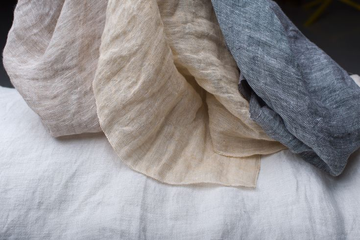 Madrid - a thin and fine linen voile, washed to create a real textured and crinkled look.