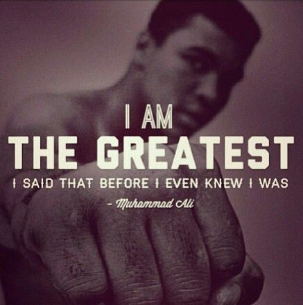 The art of manifestation Muhammad Ali quote