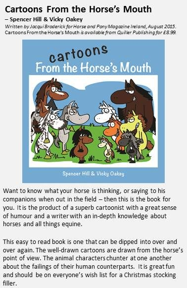 Ireland's Horse and Pony Magazine has reviewed Cartoons From The Horses Mouth.