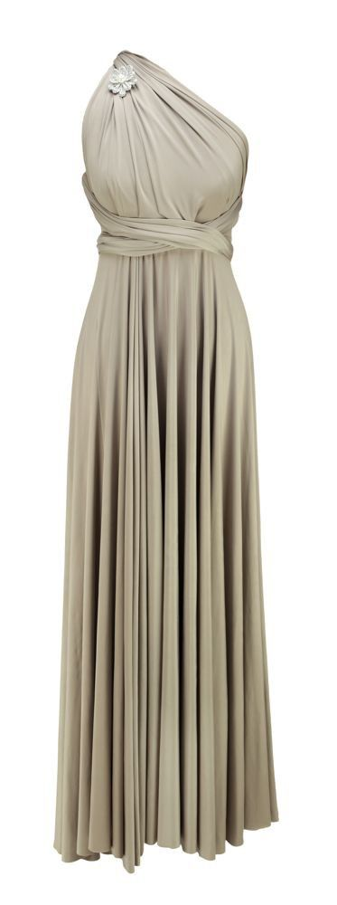 Twobirds bridesmaid dress in Putty #bridesmaid....a short version of this would be nice