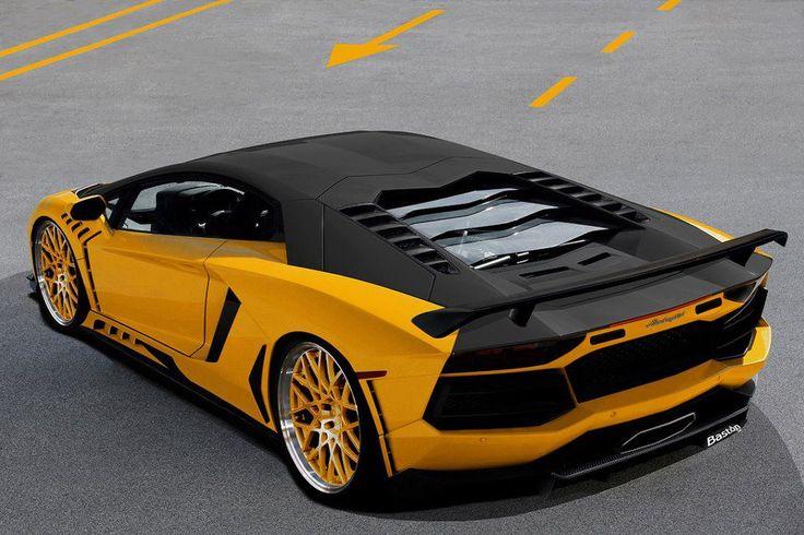 Lamborghini Aventador Giallo e Nero