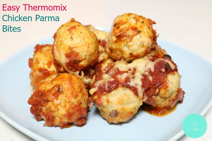 Thermomix Chicken Parma Bites - Thermobliss