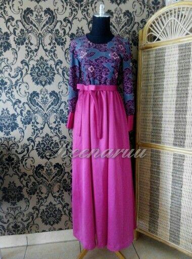 When 'mega mendung'batik meet silky satin #customer #thankyou