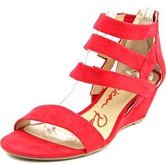 American Rag Casen Women Open Toe Synthetic Red Wedge Sandal.