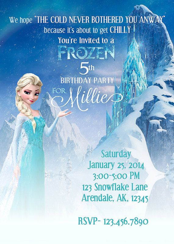 36 best Frozen Birthday Party images on Pinterest Frozen birthday - invitation birthday frozen