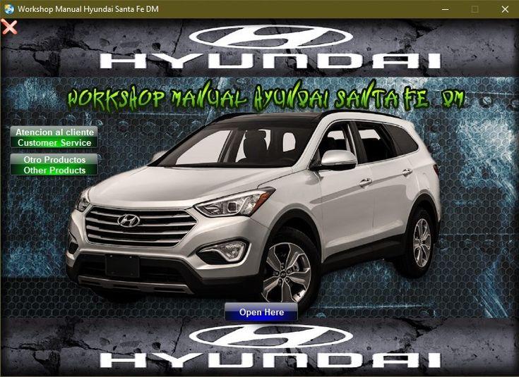Manual De Taller Y Reparacion Hyundai Santa Fe 2013 Manuales De Reparacion Reparacion Santa Fe