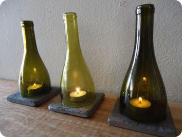 Ideas de decoracion con botellas de vidrio recicladas