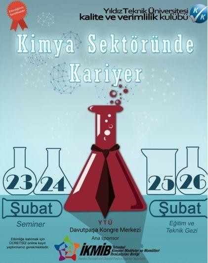 Kariyername.com sponsorluğunda kimya sektöründe kariyer etkinliği :  https://www.facebook.com/events/635921929845890  I #kariyer #kimya #kimyager  #öğrenci #etkinlik #ytu