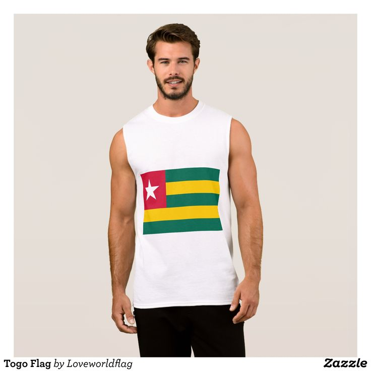 Togo Flag Sleeveless Shirt - Comfy Moisture-Wicking Sport Tank Tops By Talented Fashion & Graphic Designers - #tanktops #gym #exercise #workout #mensfashion #apparel #shopping #bargain #sale #outfit #stylish #cool #graphicdesign #trendy #fashion #design #fashiondesign #designer #fashiondesigner #style