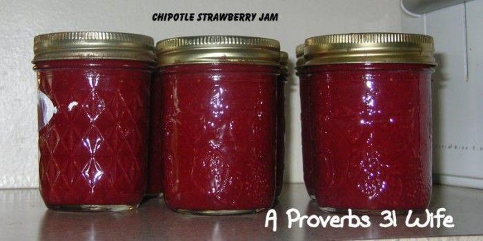 Strawberry Chipotle Jam #strawberry #jam #canning