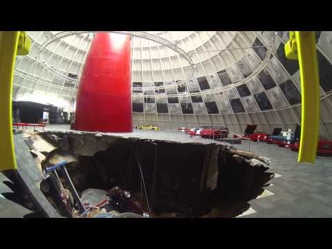 Corvette Museum Sinkhole Footage - Helicopter Shots http://youtu.be/hypidVK9Ge8