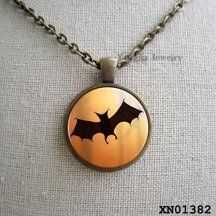 Хэллоуин bat ожерелье Trick or Treat Хэллоуин Кулон Хэллоуин украшения