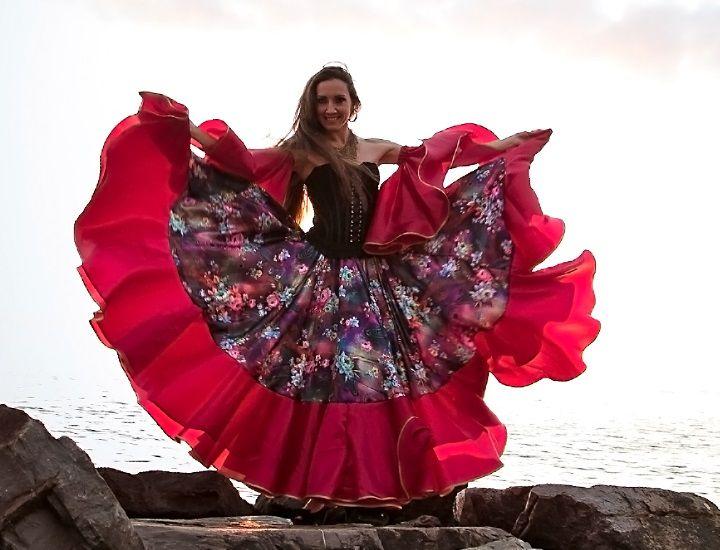 Цыганская юбка «Розетта»   Дизайнер танцевальной одежды Надежда Беляева.