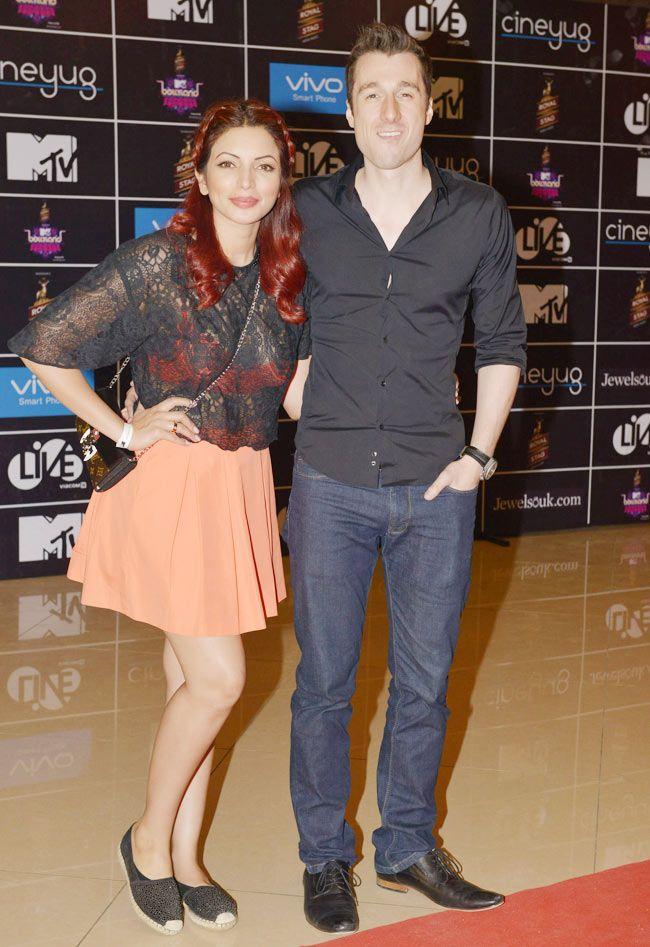 Shama Sikander with beau James Milliron at MTV Bollyland - #MTVBollyland. #Bollywood #Fashion #Style #Beauty #Sexy #Hot