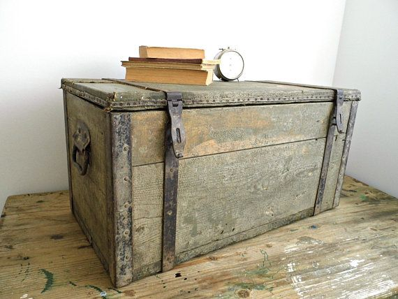 Truhen Kisten New Antique Style Distressed Wooden Pirate Treasure Chest Coffee Table Trunk Mobel Wohnen