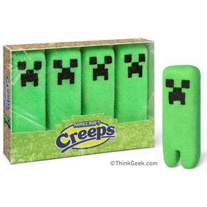 They see me Creepin'. They eatin'.Geek, Minecraft Parties, Videos Games, Creepers, Minecraft Marshmallows, Google Search, Easter Baskets, Kids, Marshmallows Creeping