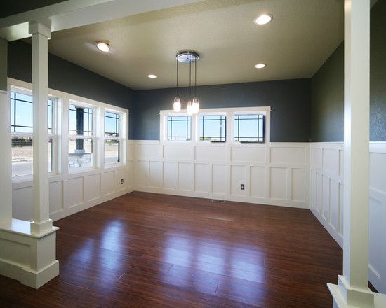 Traditional Dining Room With Wainscot