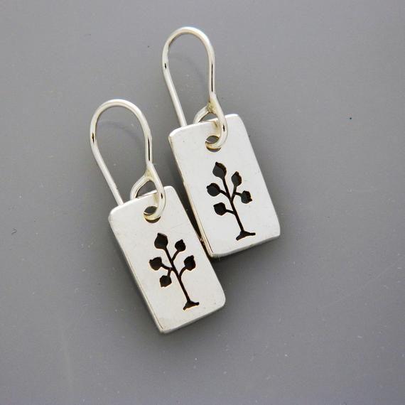 Silver Jewelry Tree Earrings