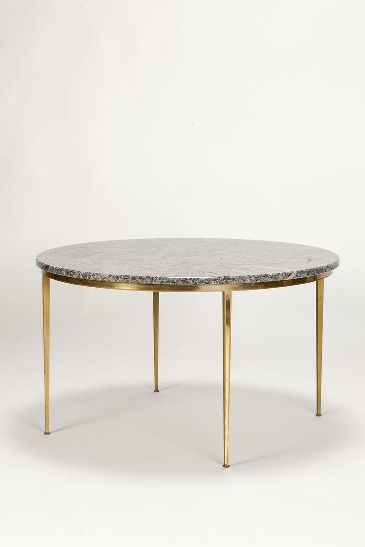 Marble Brass Coffee Table Vereinigte Werkstätten München 50's - Okay Art