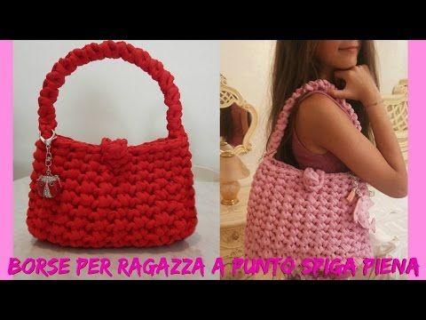 """Tutorial uncinetto borsa """"Tiffany""""   Punto zig zag    Katy Handmade - YouTube"""