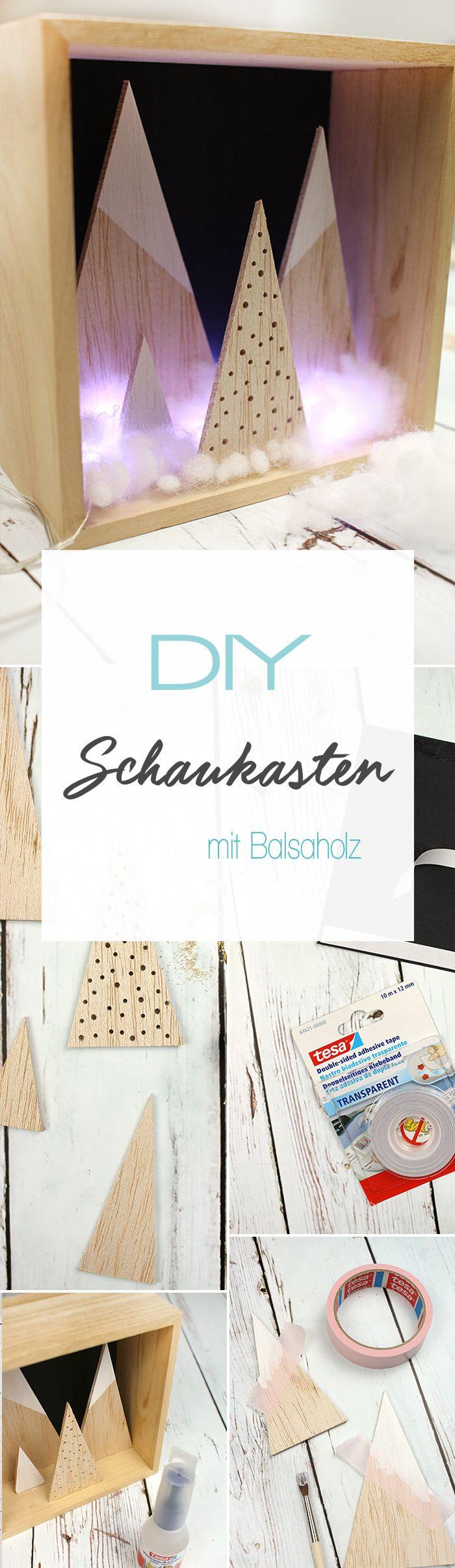 Dani von DIY Blog Gingered Things zeigt euch zusammen mit tesa wie ihr diesen winterlichen Schaukasten aus Balsaholz basteln könnt. Die perfekte Deko oder auch als Geschenk ein Traum.