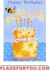 Birthday Bee House Flag