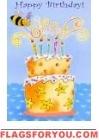 Birthday Bee House Flag