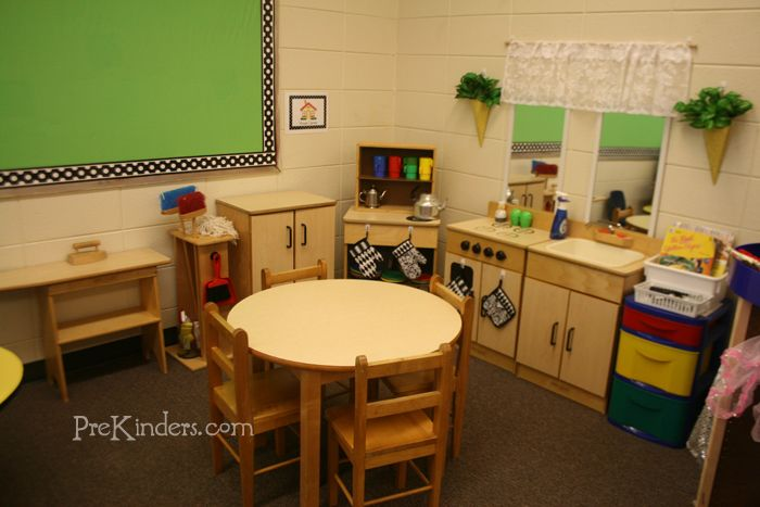 This is my House Center in my new classroom (PreKinders.com)