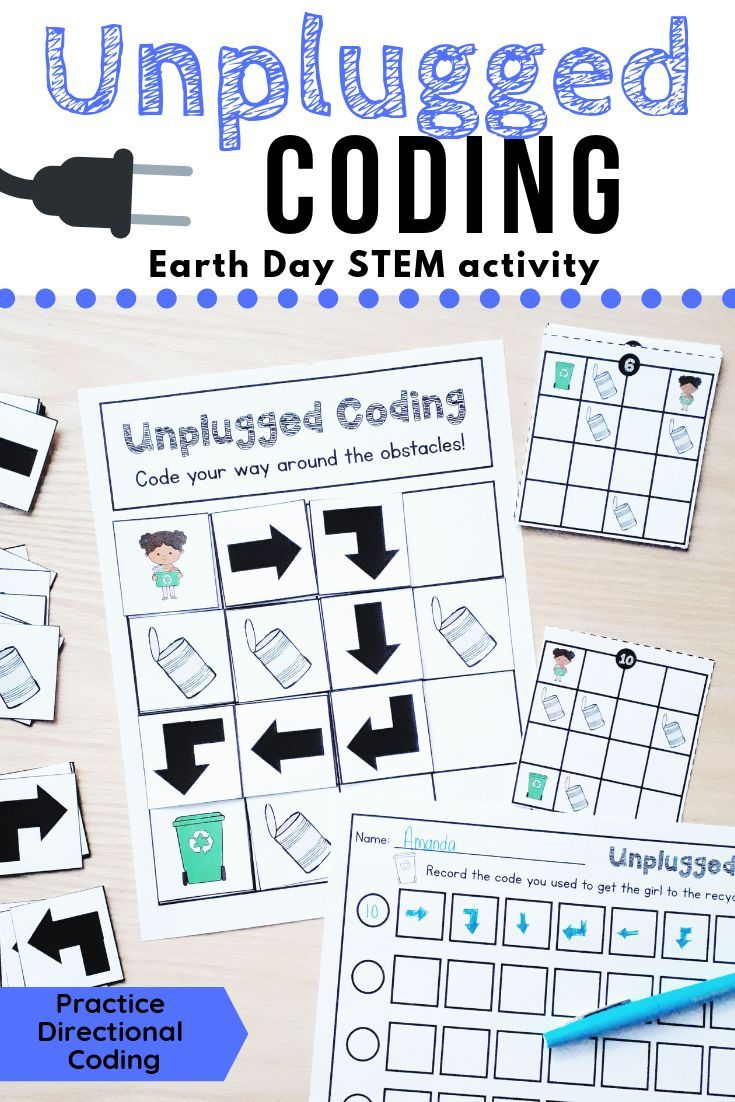 This Earth Day Set Has Students Code The Girl To The Recycling Bin And Avoid The Can Obstacles Unplugged Coding Activities Classroom Coding Kindergarten Coding [ 1102 x 735 Pixel ]