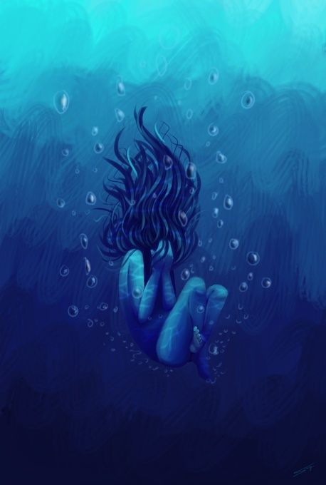 Drowning~how something so beautiful and magishtic is the most painful way to die