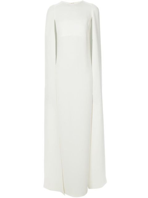 Valentino Cape-Style Evening Dress - 15 Chic Capes For Winter - How To Wear A Cape - Elle