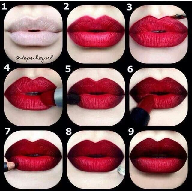 matte vampire lips | 16 Red, White & Blue Makeup Ideas That Will Make You Stand Out On The ...