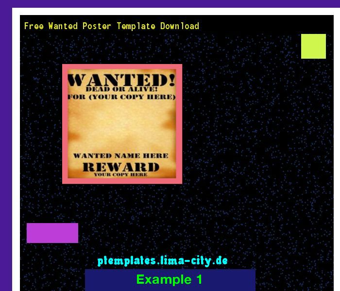 Free wanted poster template download Powerpoint Templates 134234