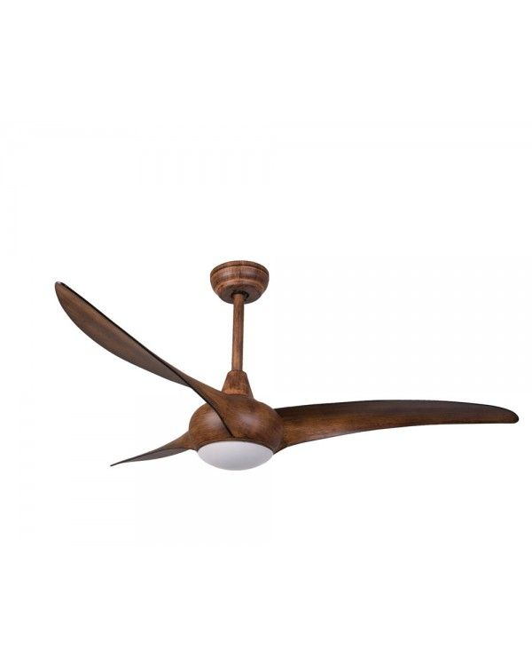 """Light Wave Distressed Koa 52"""" Ceiling Fan with Remote Control F844-KDK"""